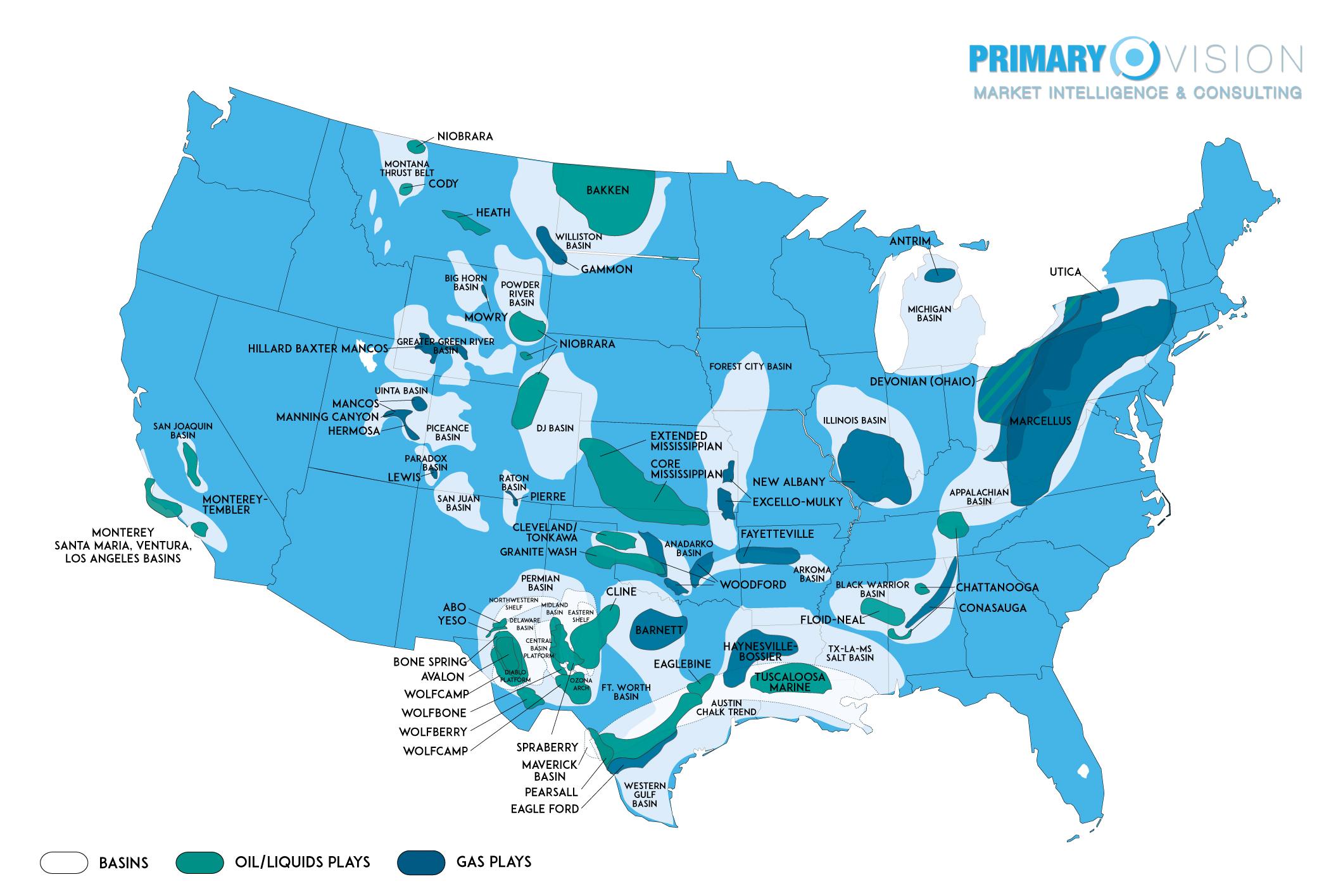 2017 Frac Maps - United States